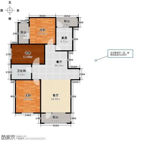 新发翡翠花溪3室2厅1卫0厨115.00㎡户型图