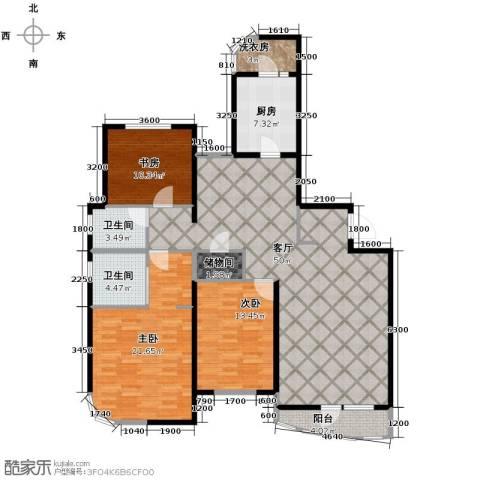 仁恒海河广场3室2厅2卫0厨166.00㎡户型图