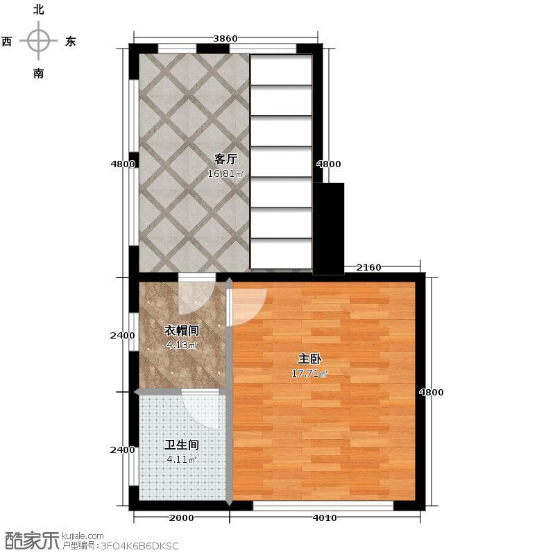 恒盛尚海湾滨海47.35㎡北区C7三层户型10室