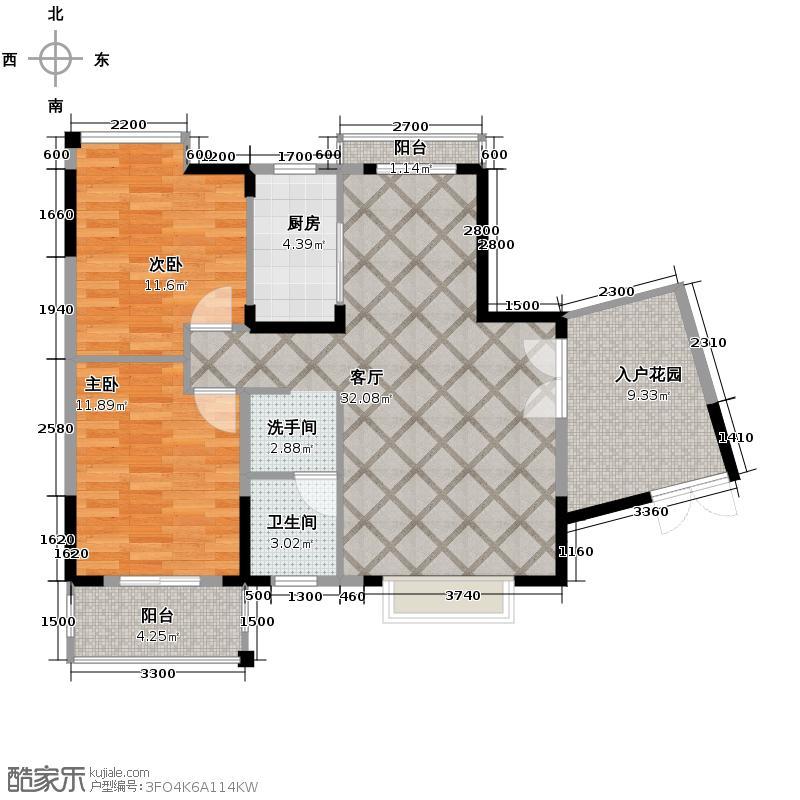 中建龙城101.00㎡A-1户型2室2厅1卫