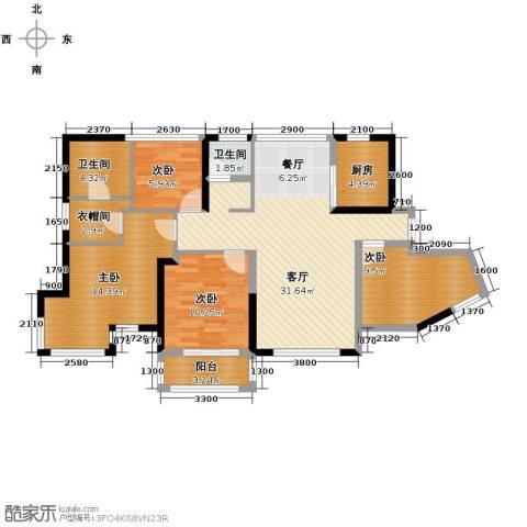 维一星城・原山苑4室2厅2卫0厨90.00㎡户型图