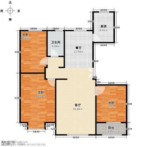亿利城文澜雅筑3室2厅1卫0厨137.00㎡户型图