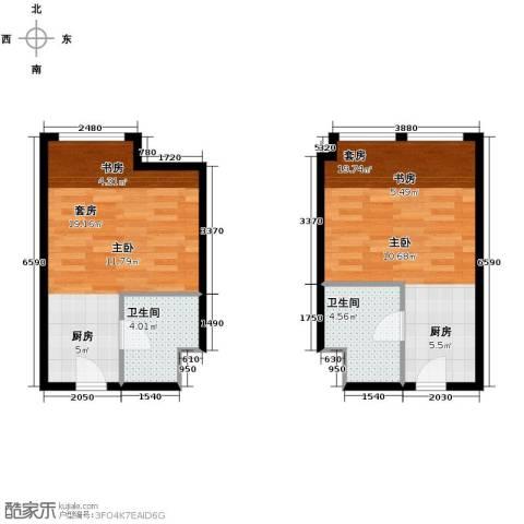 世贸天街1室0厅1卫0厨66.00㎡户型图
