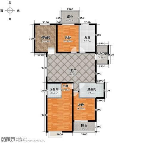 翰林世家4室2厅2卫0厨132.00㎡户型图
