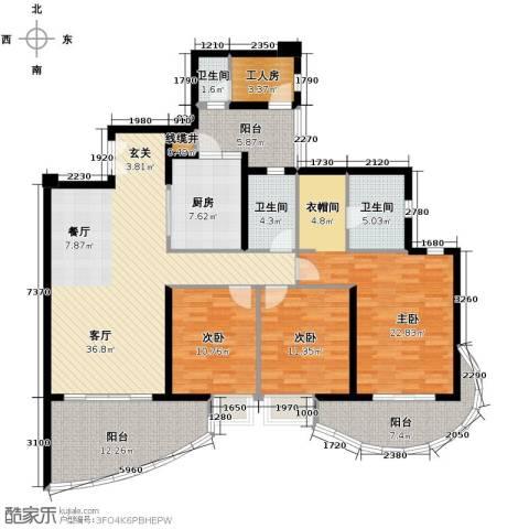 龙湖世纪峰景3室2厅2卫0厨147.79㎡户型图