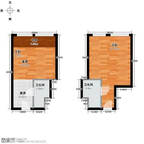 世贸天街1室0厅1卫0厨60.00㎡户型图