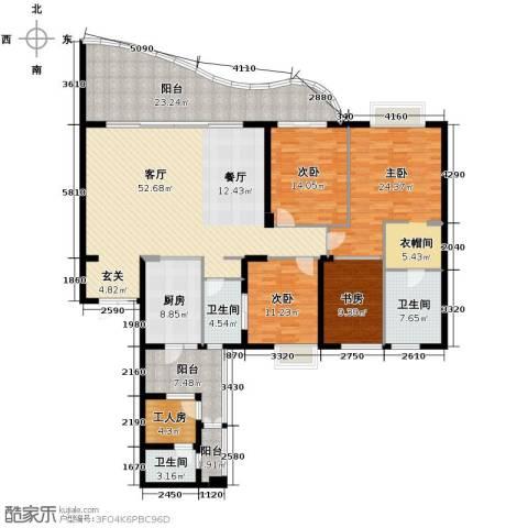 龙湖世纪峰景4室2厅2卫0厨194.45㎡户型图