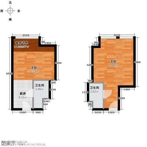 世贸天街1室0厅1卫0厨57.00㎡户型图
