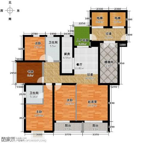 隆基新谊城4室2厅2卫0厨164.00㎡户型图