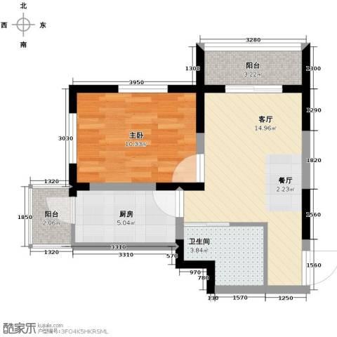 心源家园58.00㎡户型图