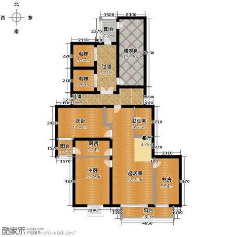 隆基新谊城3室2厅1卫0厨124.00㎡户型图