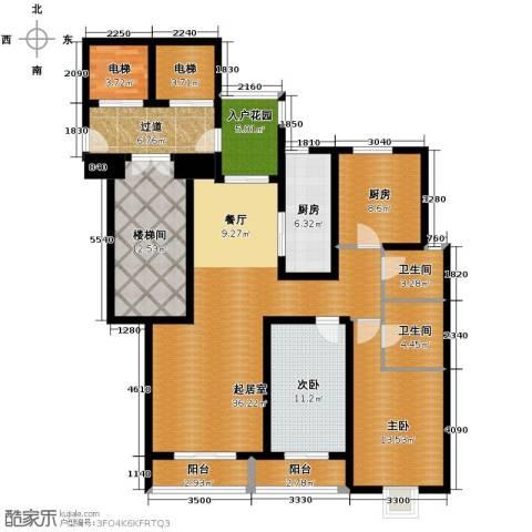 隆基新谊城3室2厅2卫0厨143.00㎡户型图