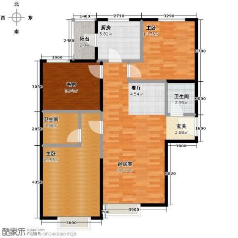 星河1853室0厅2卫1厨127.00㎡户型图
