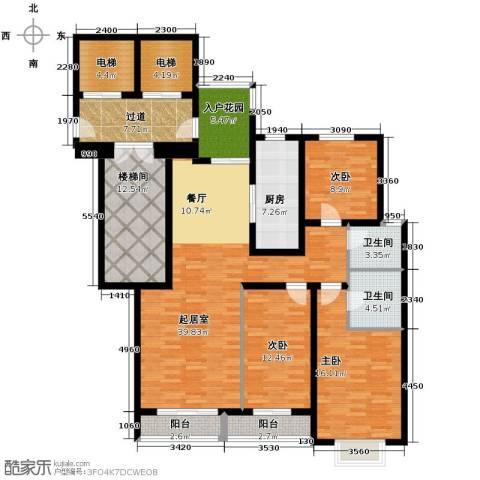 隆基新谊城3室2厅2卫0厨192.00㎡户型图