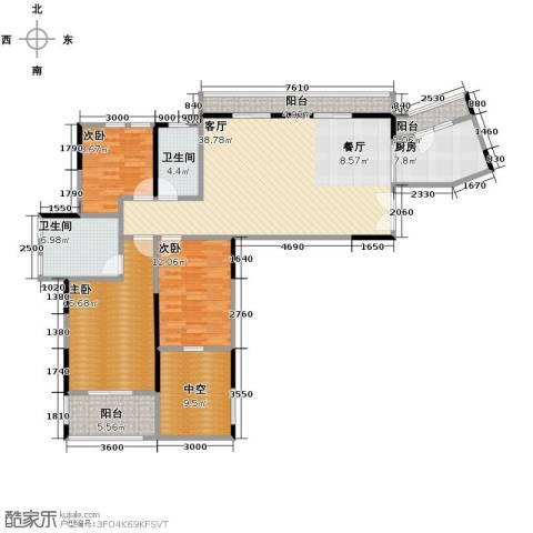 塞纳河畔3室2厅2卫0厨137.00㎡户型图