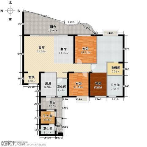 龙湖世纪峰景3室2厅2卫0厨193.01㎡户型图