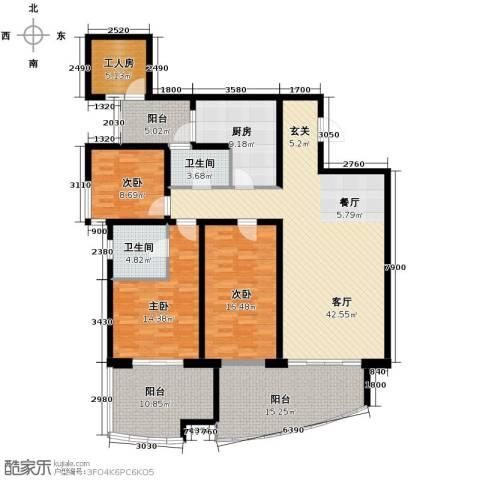 龙湖世纪峰景4室2厅2卫0厨155.22㎡户型图