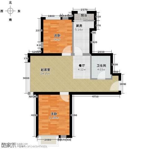 远洋城1室2厅1卫0厨86.00㎡户型图