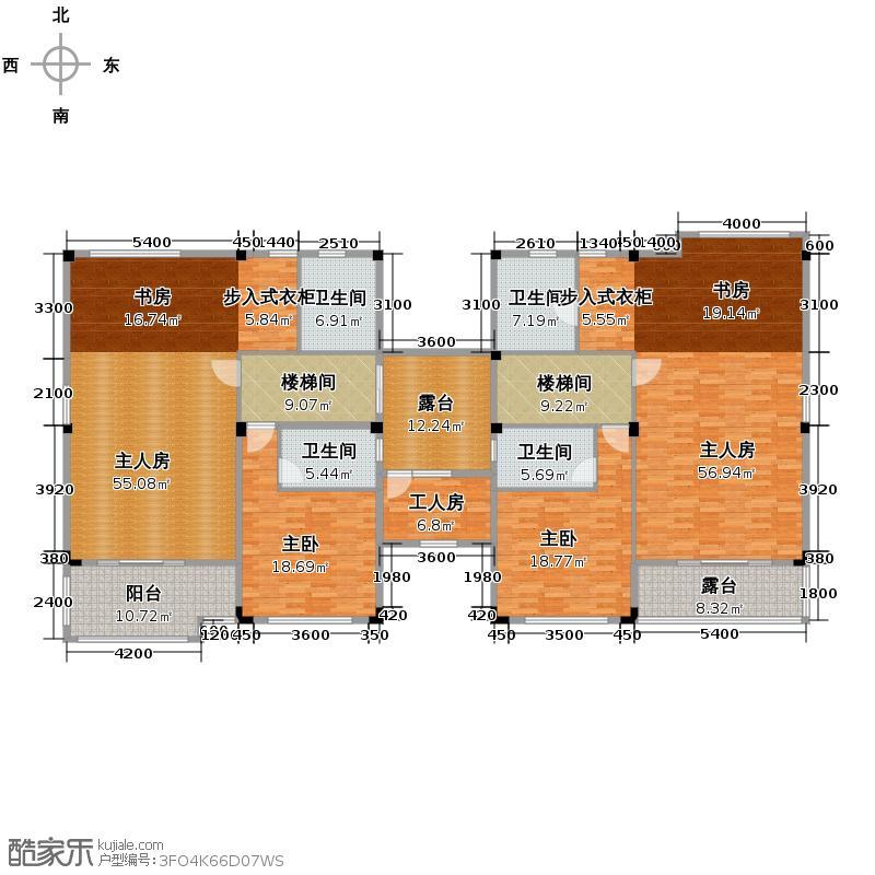 浏阳碧桂园105.38㎡G82二层户型10室