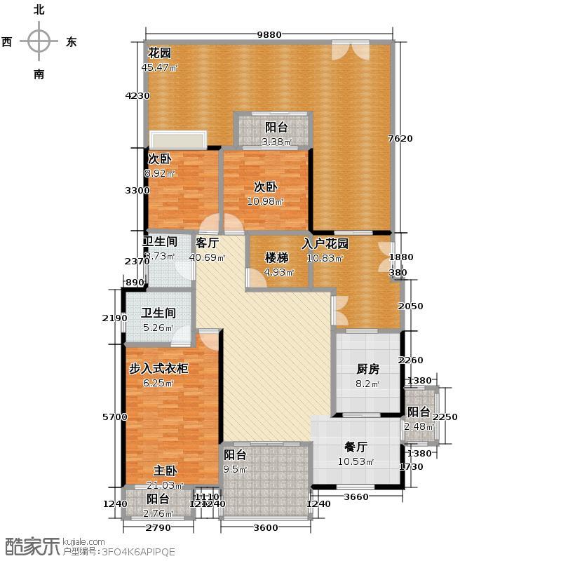 江润地中海岸123.76㎡洋房I户型10室