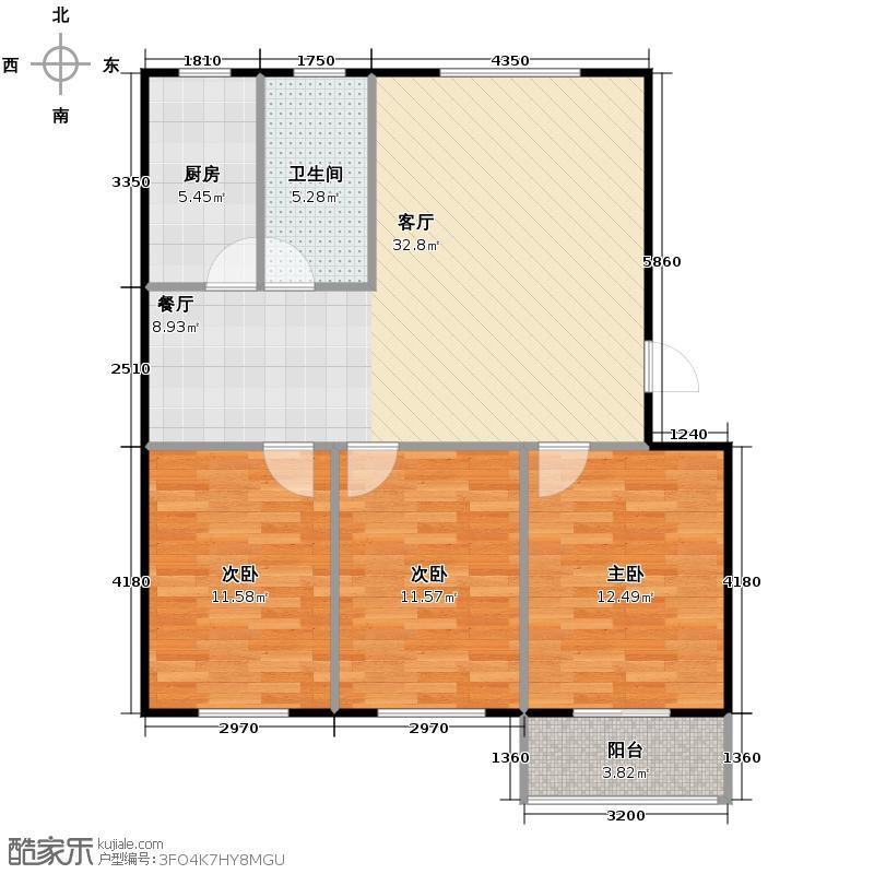 龙屿・香醍溪苑111.00㎡户型3室2厅1卫