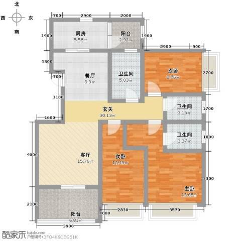 沂龙湾润园133.00㎡户型图