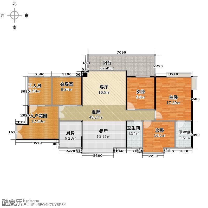 鹏达丽水湾175.00㎡A户型5室2厅2卫
