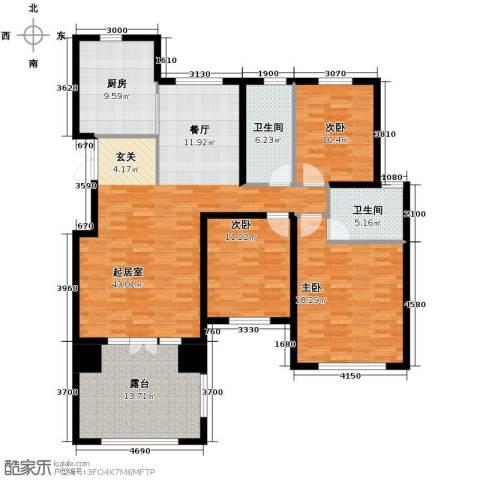 滨湖国际3室2厅2卫0厨167.00㎡户型图