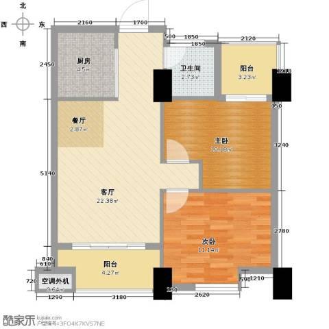 金水湾・城市广场85.00㎡户型图