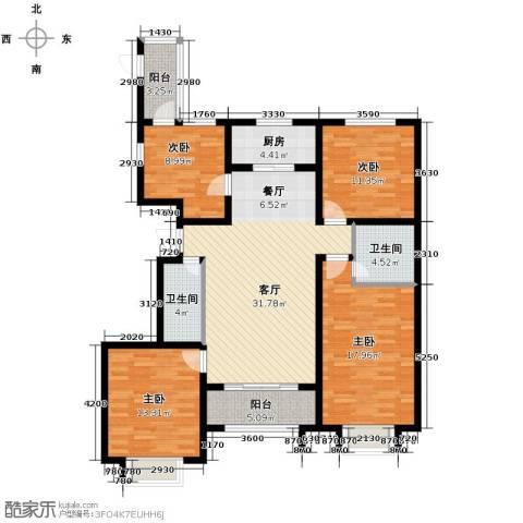 公园里4室2厅2卫0厨128.00㎡户型图