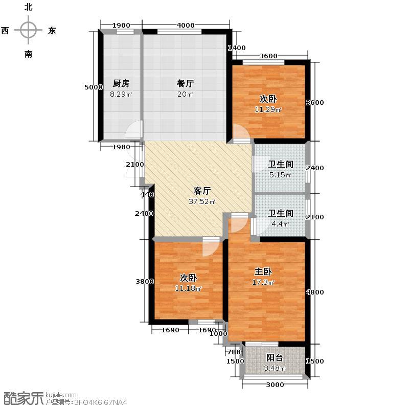 馨地苑111.10㎡户型10室