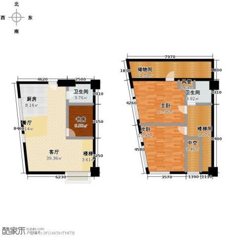 YOHO湾3室1厅2卫0厨112.11㎡户型图