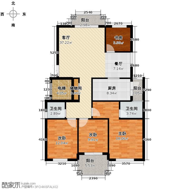 融侨观邸142.00㎡户型4室1厅2卫1厨