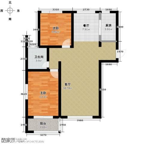 公园里2室2厅1卫0厨102.00㎡户型图