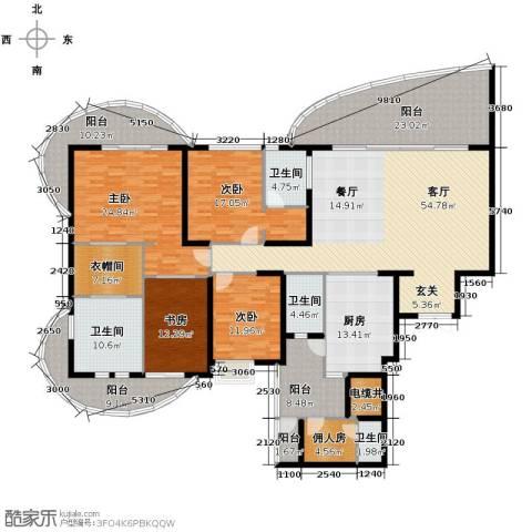 龙湖世纪峰景4室2厅3卫0厨251.47㎡户型图