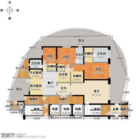 龙湖世纪峰景4室2厅3卫0厨402.95㎡户型图