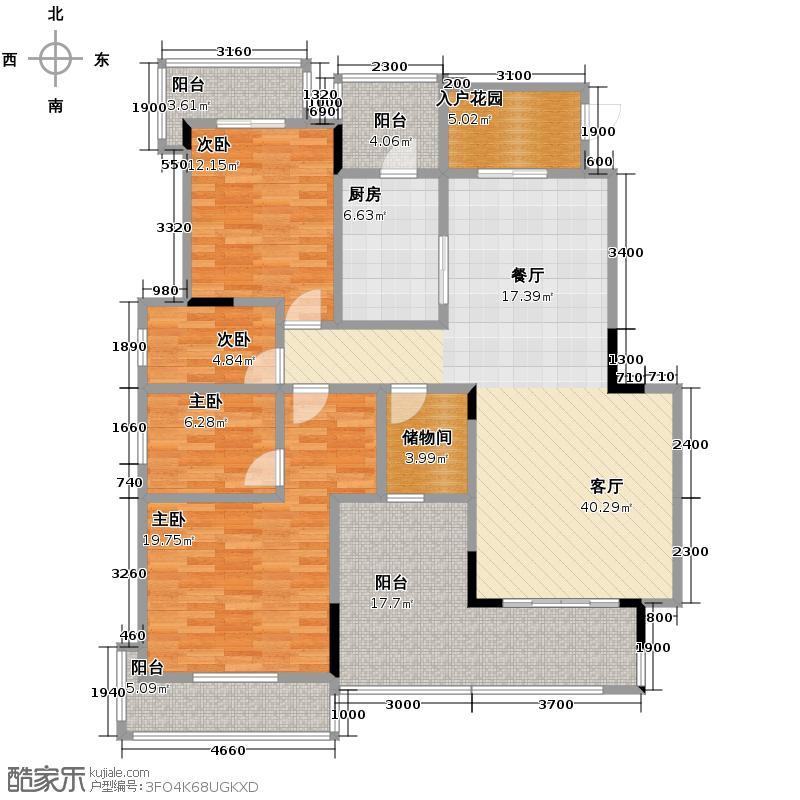 银翔翡翠谷170.32㎡B5户型10室