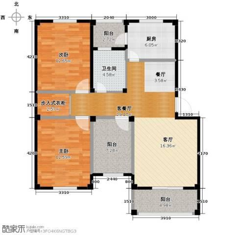 东海明园3室2厅1卫0厨99.00㎡户型图