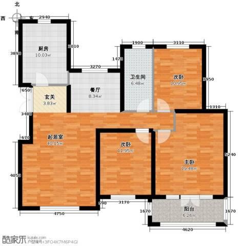 滨湖国际3室2厅1卫0厨148.00㎡户型图