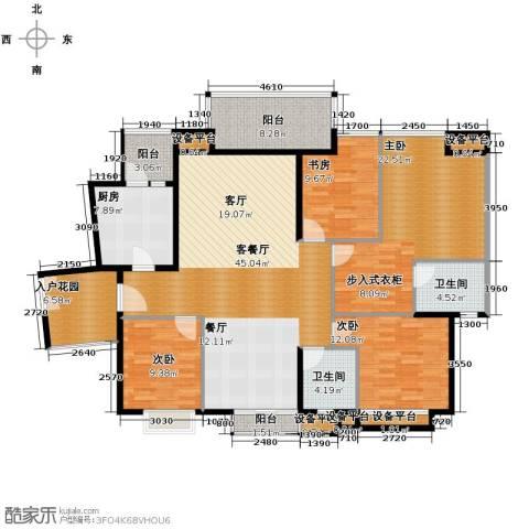 珊瑚水岸4室2厅2卫0厨140.00㎡户型图