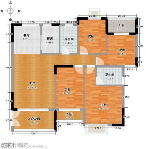 睿山4室1厅2卫1厨144.00㎡户型图