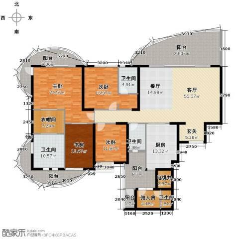 龙湖世纪峰景4室2厅2卫0厨250.80㎡户型图