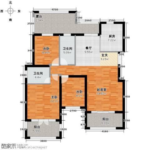 滨湖国际3室2厅2卫0厨154.00㎡户型图