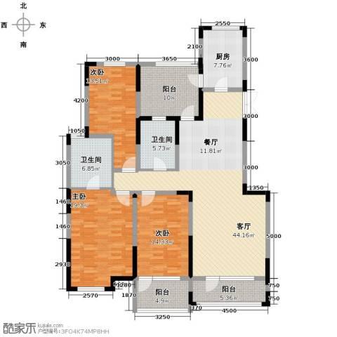 汇置尚都3室2厅2卫0厨152.00㎡户型图