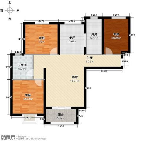 滨湖国际3室2厅1卫0厨136.00㎡户型图