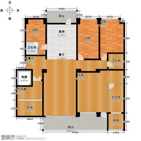 万联・晋海4室2厅3卫0厨222.00㎡户型图