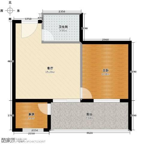 锦绣嘉园55.00㎡户型图