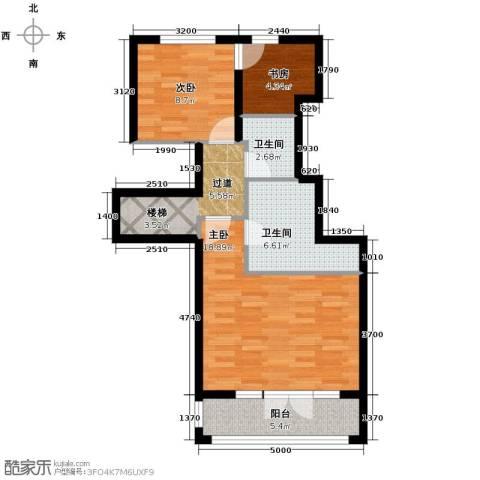 滨湖国际3室2厅4卫0厨76.00㎡户型图