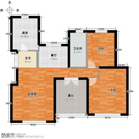 滨湖国际2室2厅1卫0厨131.00㎡户型图