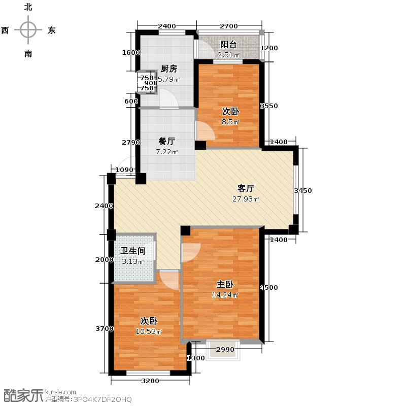 巴塞罗娜80.55㎡多层户型10室